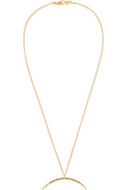 Gold-plated diamond necklace