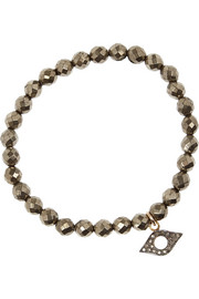 Chan Luu Pyrite, silver and diamond bracelet