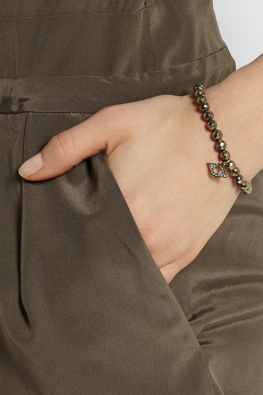Chan Luu Pyrite, silver and diamond bracelet