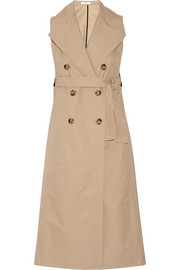 TOME Sleeveless cotton-blend twill trench coat