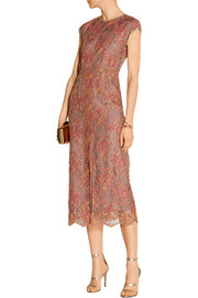 Chantilly lace midi dress