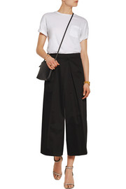 Cotton-sateen culottes