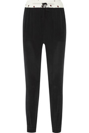 Band of Outsiders Washed-silk tapered pants