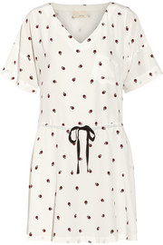 Band of Outsiders Printed silk mini dress