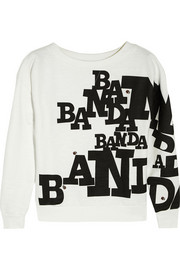 Band of Outsiders Banda printed cotton-jersey sweatshirt
