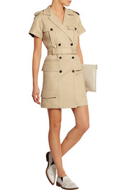 Victoria Beckham Jute and silk-blend canvas mini dress
