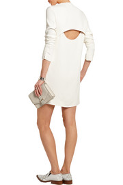 Cutout crepe mini dress