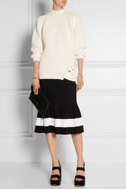 Victoria Beckham Lace-up cotton-blend sweater