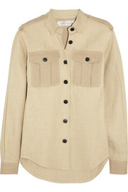 Victoria Beckham Jute and silk-blend canvas shirt