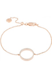 Diva rose gold-plated diamond bracelet