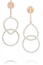 Diva Kiss rose gold-plated diamond earrings