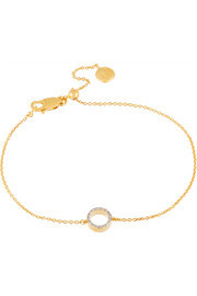 Diva mini gold-plated diamond bracelet