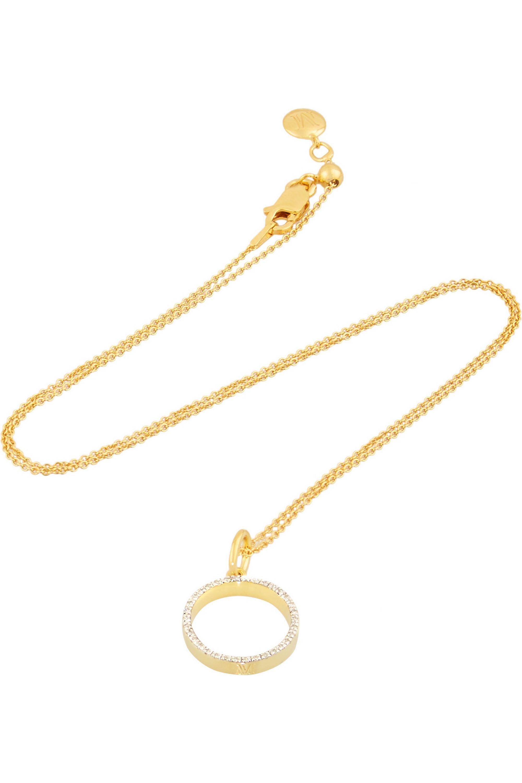 Monica Vinader Diva gold-plated diamond necklace