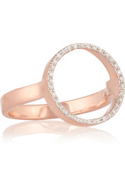 Diva Circle rose gold-plated diamond ring