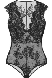La Robe Noire Chantilly lace bodysuit