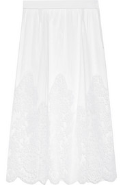 La Robe Blanche Chantilly lace and tulle half slip