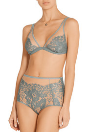 Chantilly lace triangle bra