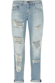 Rag & bone The Boyfriend distressed low-rise jeans