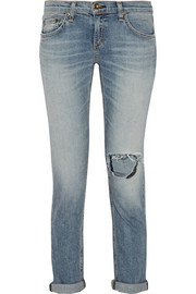 The Dre distressed mid-rise slim boyfriend jeans