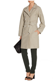 Rag & bone Port leather-trimmed cotton-blend piqué trench coat