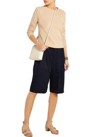 Sally oversized satin-twill shorts