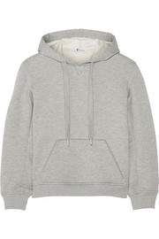 T by Alexander Wang Cotton-blend fleece hooded top