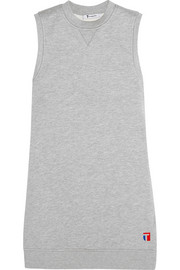 Cotton-blend jersey mini dress
