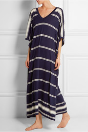 Bosphorous striped cashmere and silk-blend kaftan