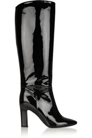 Tamara Mellon Polo patent-leather knee boots