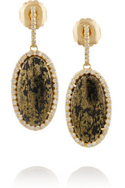 18-karat gold, Apache gold and diamond earrings