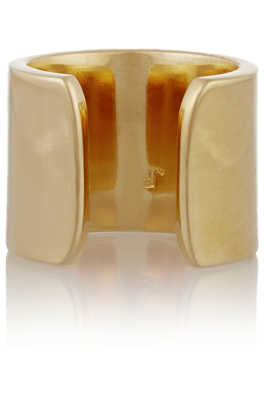 Jennifer Fisher Flat Wire gold-plated phalanx ring