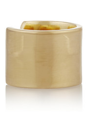Flat Wire gold-plated phalanx ring