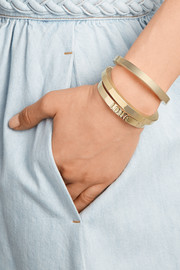 XL Square Wire gold-plated cuff