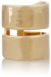 Jennifer Fisher Double Band gold-plated ring