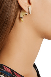 Cleo gold-plated resin talon earrings