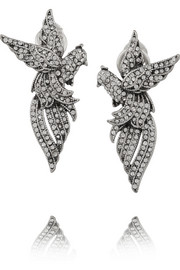 Aviary silver-plated Swarovski crystal earrings