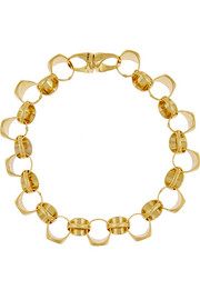Signet gold-plated necklace