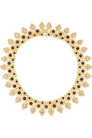 Lele Sadoughi Stone Garland gold-plated, crystal, marble and howlite necklace