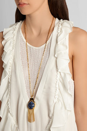 Gazebo gold-plated marble necklace