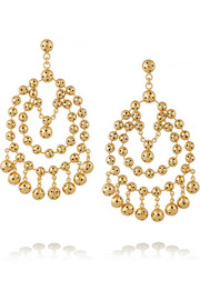 Barcelona gold-plated earrings