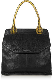 Deysi elaphe-trimmed textured-leather tote