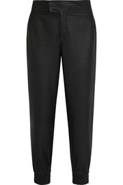 Helmut Lang Leather tapered pants