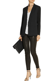 Helmut Lang Crepe and stretch-twill blazer