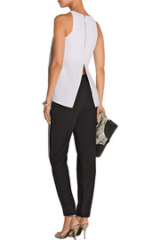 Raze textured-crepe top