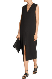 Helmut Lang Textured-crepe midi dress