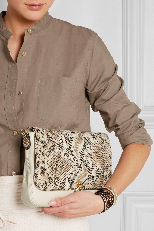 Elizabeth and James Cynnie mini snake-effect leather shoulder bag