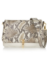 Cynnie mini snake-effect leather shoulder bag