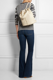 Elizabeth and James Cynnie Sling textured-leather backpack