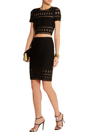 Caroline cutout bandage mini skirt