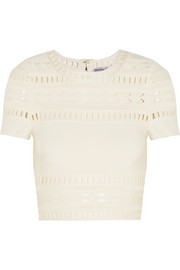 Gigi cropped cutout bandage top